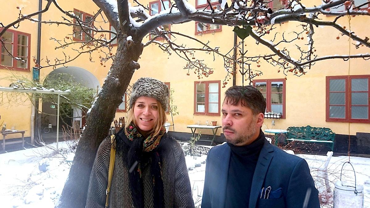 Frida Hyvönen och Martin Wicklin