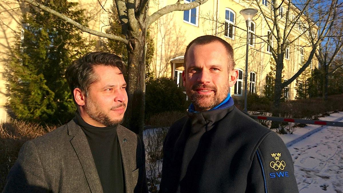 Stefan Holm (t h) och Martin Wicklin (t v)