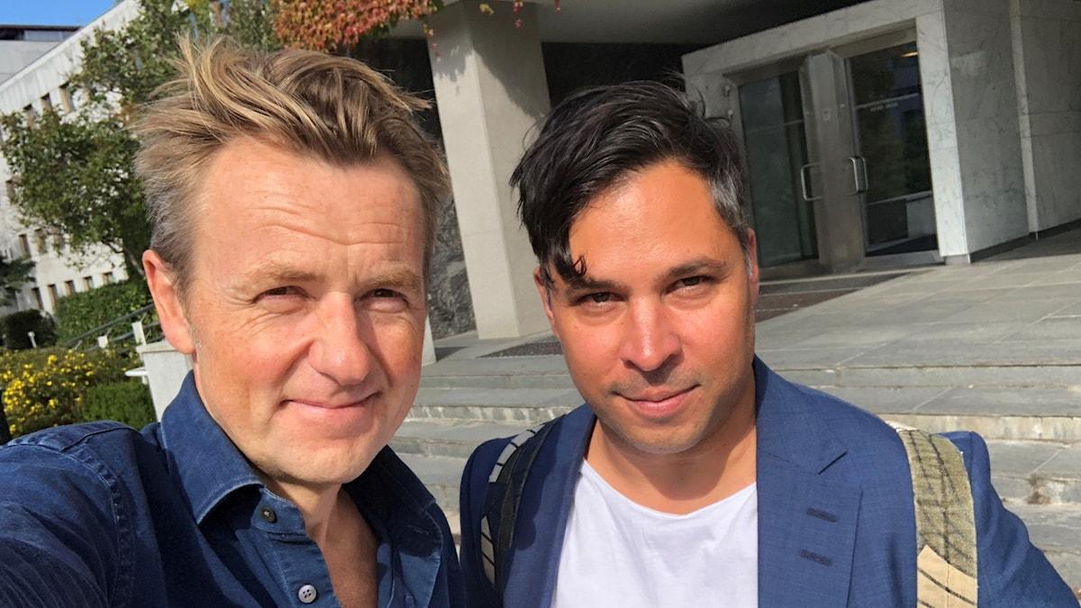 Fredrik Skavlan (t v) och Martin Wicklin (t h)