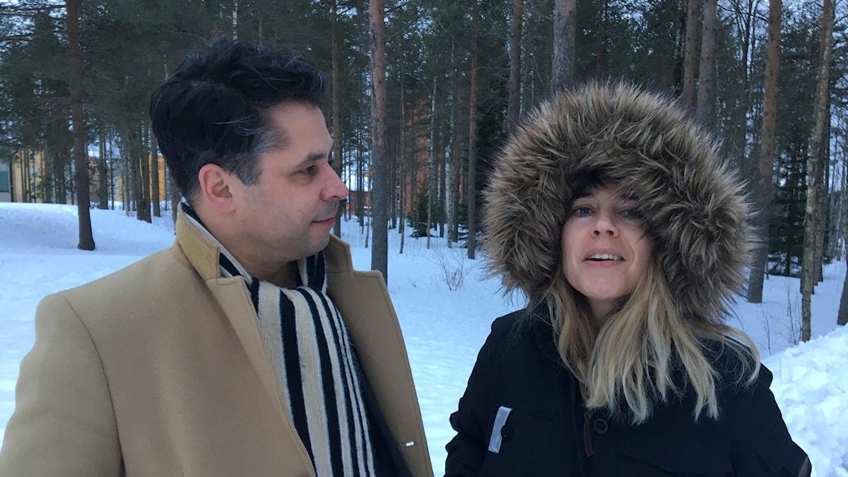 Annika Norlin (t h) och Martin Wicklin (t v)
