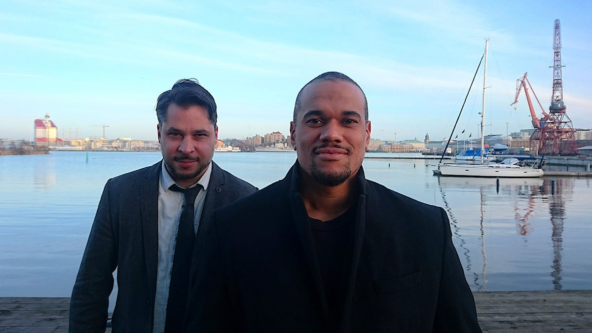 Johannes Anyuru (t h) och Martin Wicklin (t v)