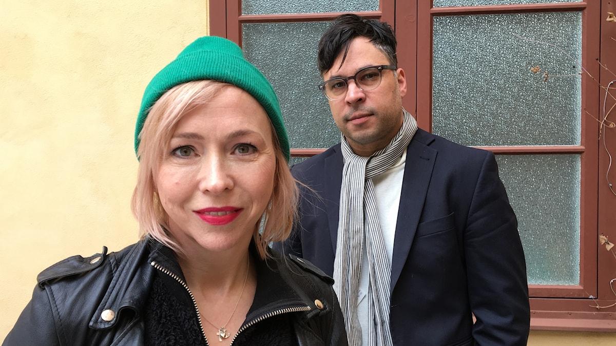 Jenny Jägerfeld (t v) och Martin Wicklin (t h)