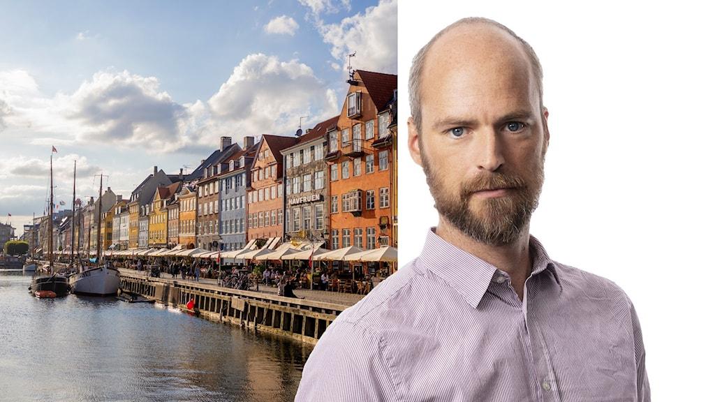 Färgglada hus på rad i Nyhavn i Köpenhamn