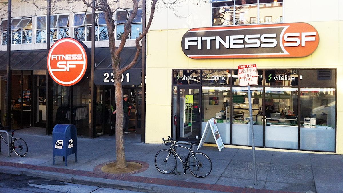 Ett gym i San Fransisco. Foto: Johan Bergendorff/Sveriges Radio.