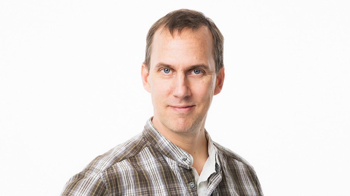 Johan Bergendorff. Sveriges Radio P1. Vetenskapsradion Klotet. Foto: Mattias Ahlm/Sveriges Radio