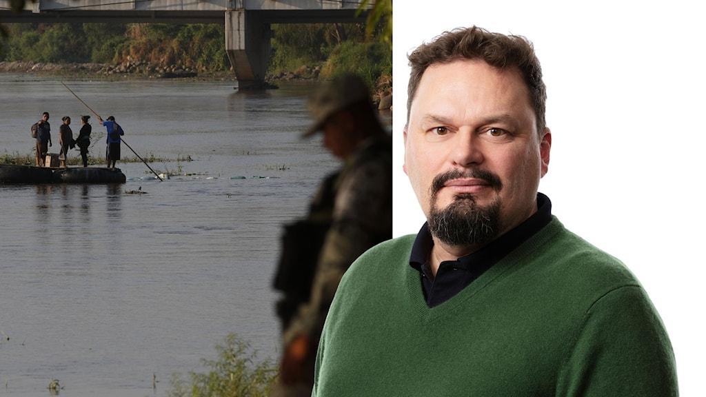 Split wilson gräns mexiko usa flod vakt