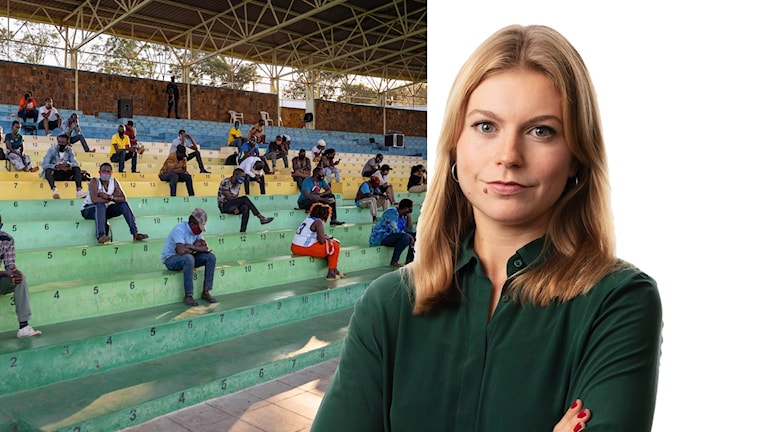 Med munskydd på svaj: Isabelle Swahn, Kigali