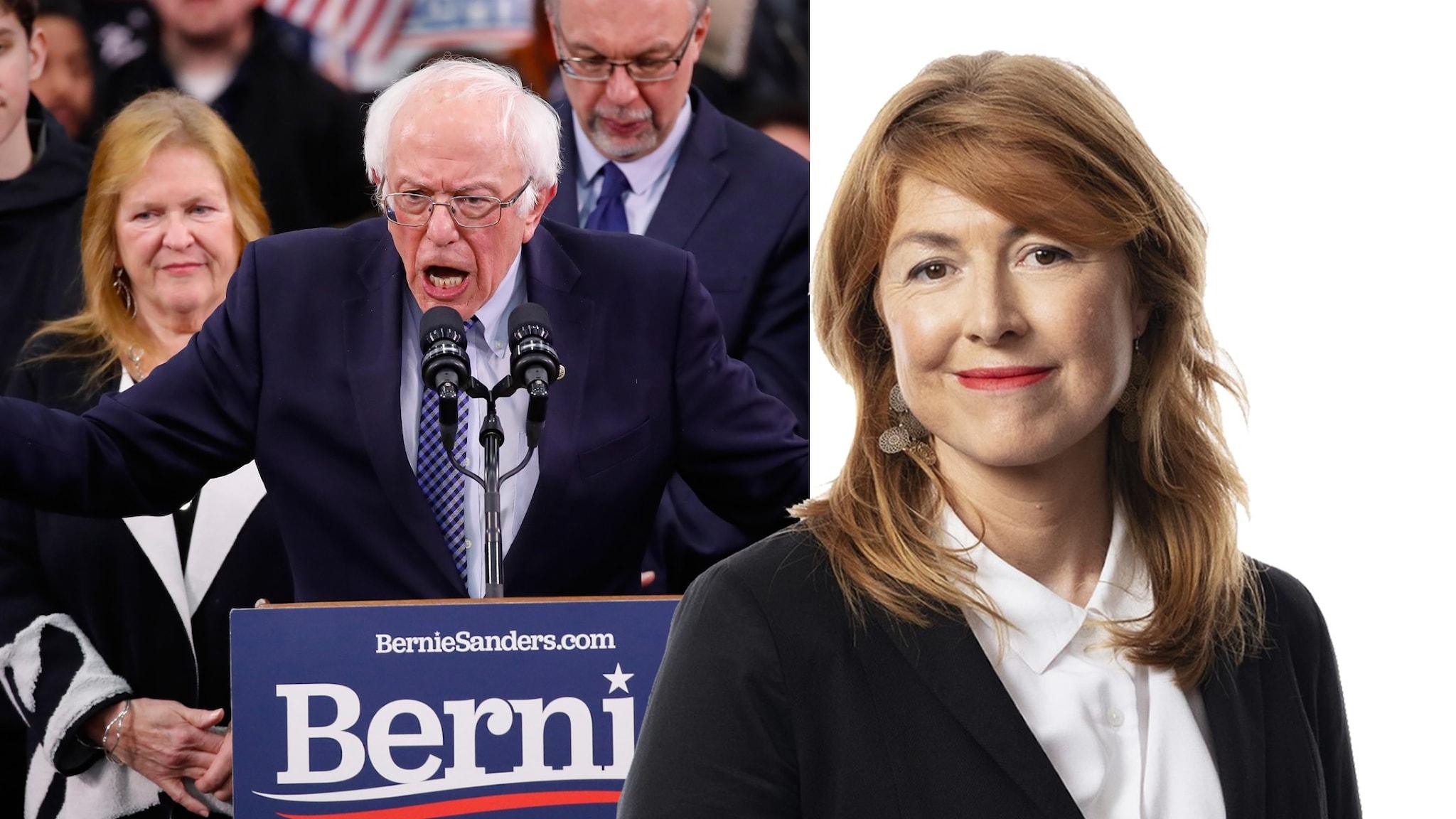 Bernie Sanders och Kajsa Boglind.