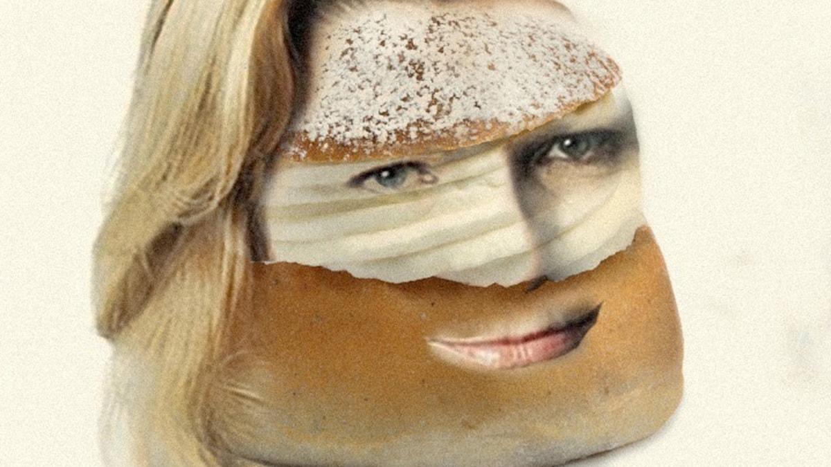 En kvinna som ser ut som en semla