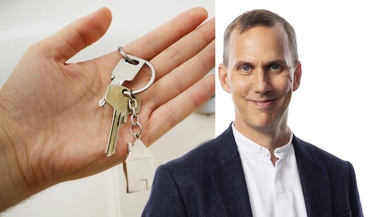 ett par nycklar.