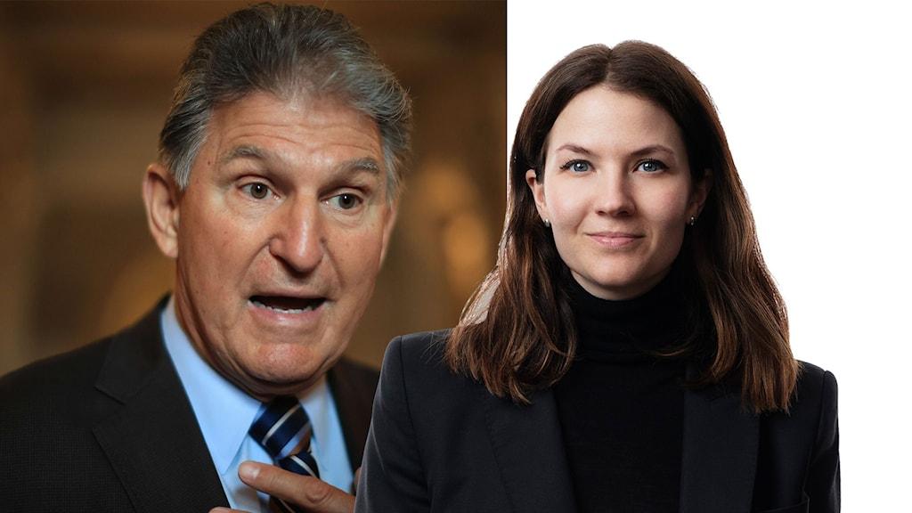 Den Demokratiska senatorn Joe Manchin och Cecilia Khavar.
