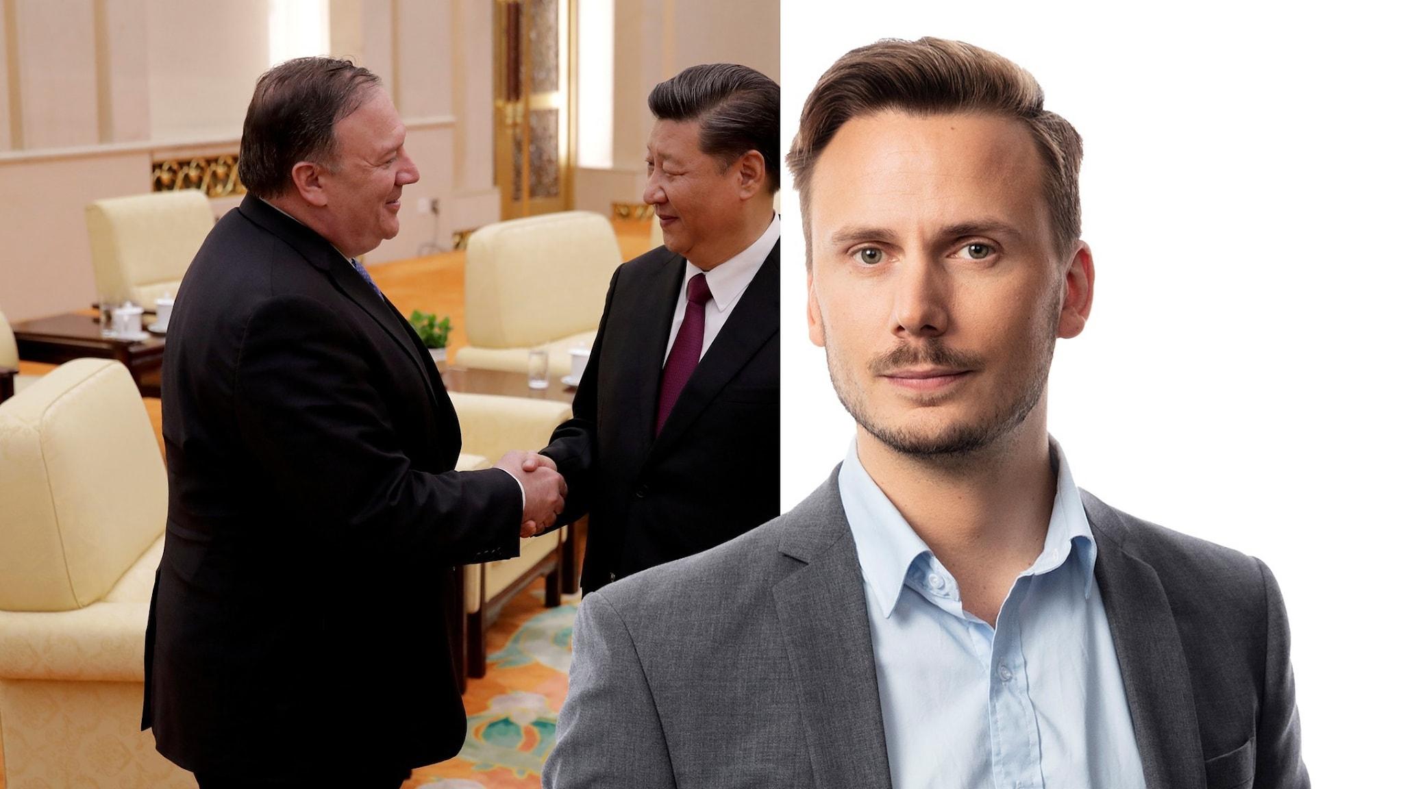 USA:s utrikesminister Mike Pompeo och Kinas president Xi Jinping