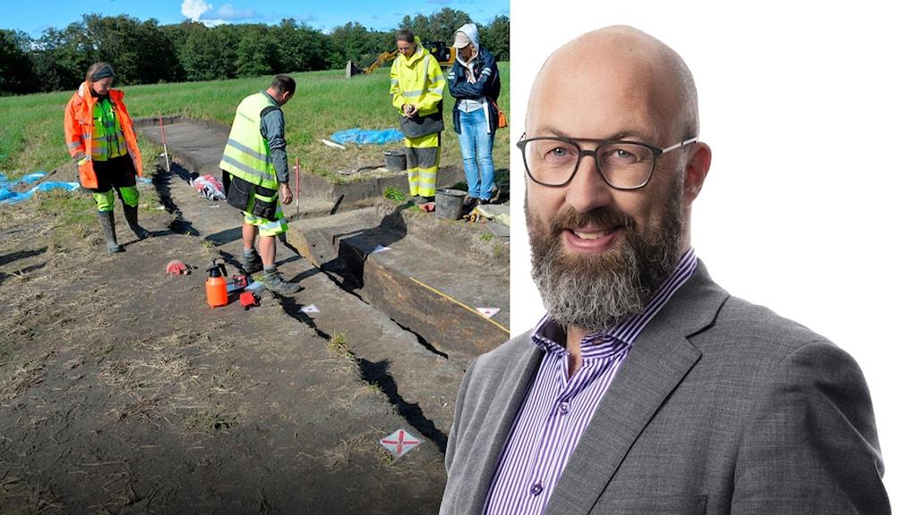 Arkeologer har grävt fram kölen till Gjellestadsskeppet, ett vikingaskepp som hittats i en åker. Kölen uppges vara i gott skick.