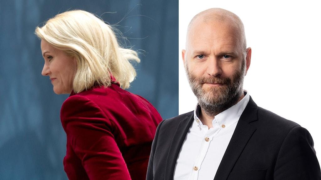 David Rasmusson och danska statsministern Helle Thorning-Schmidt