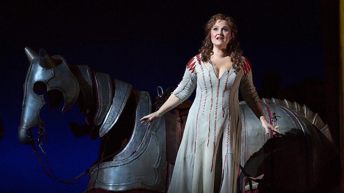 Katarina Dalayman som Brünhilde på Metropolitan. Foto: Marty Sohl/TT: