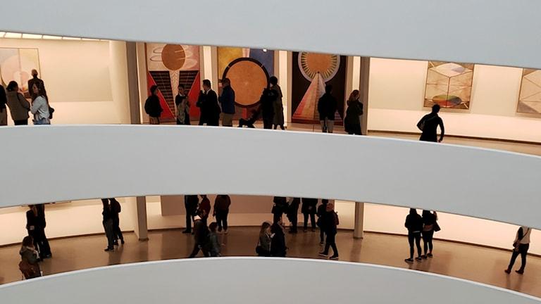 Hilma af Klints verk på Guggenheim-museet i New York.