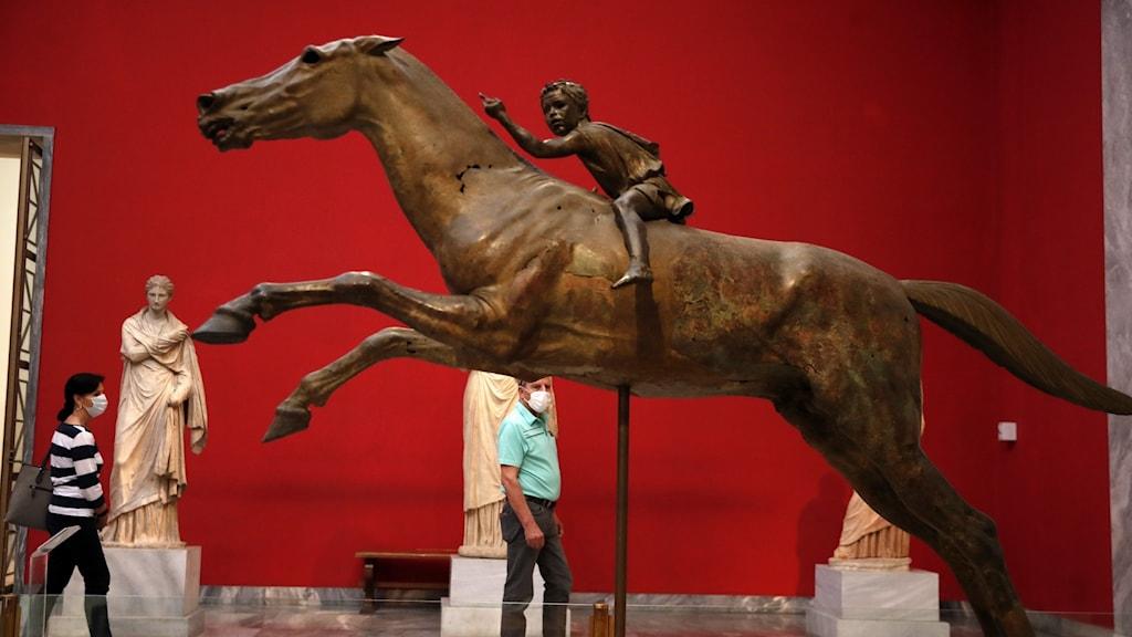 Det arkeologiska nationalmuseet i Aten är ett av de fem museerna som kan få förändrade förutsättningar om lagförslaget blir verklighet.