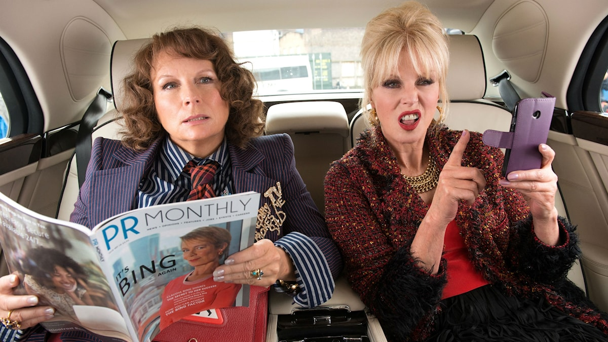 "ur filmen ""Absolutely fabulous- The Movie"" (Jennifer Saunders, Joanna Lumley)"