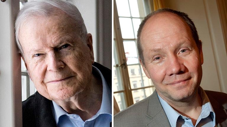Ledamöterna Kjell Espmark och Peter Englund.