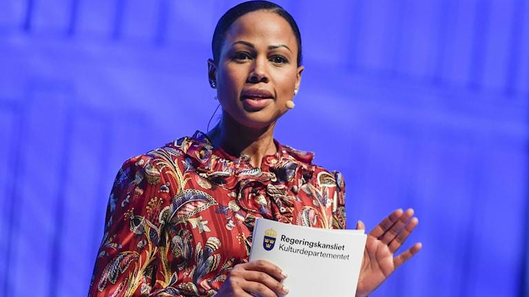 Kulturminister under Augustgalan i slutet av november.  Foto: Pontus Lundahl / TT
