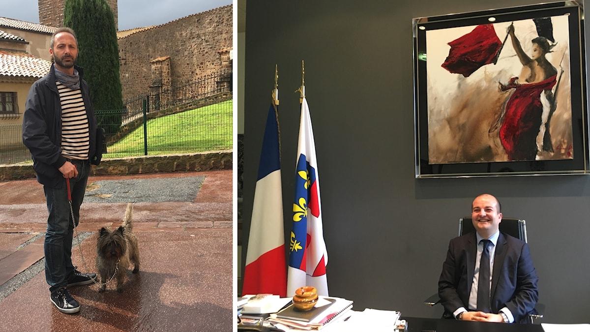 Fotografen Felix Isselin säger att han ombads lämna sin fotoatelje i Frejus för två år sen när han vägrade acceptera FN-borgmästare David Rachlines (till höger) nya regler.