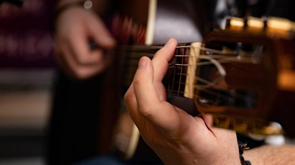 gitarrist närbild