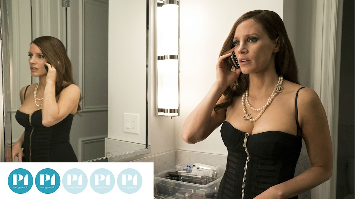 Bilden är från filmen Molly's game och föreställer Jessica Chastain i rollen som Molly Bloom.