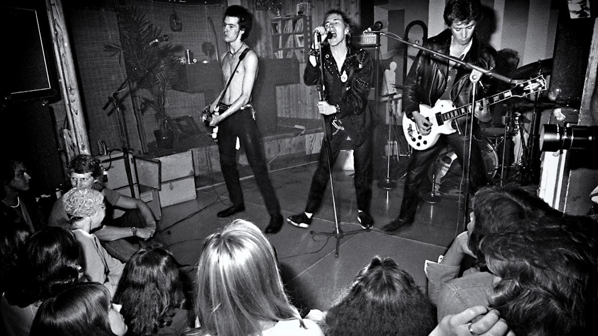 Sex Pistols på Club Zebra i Kristinehamn.