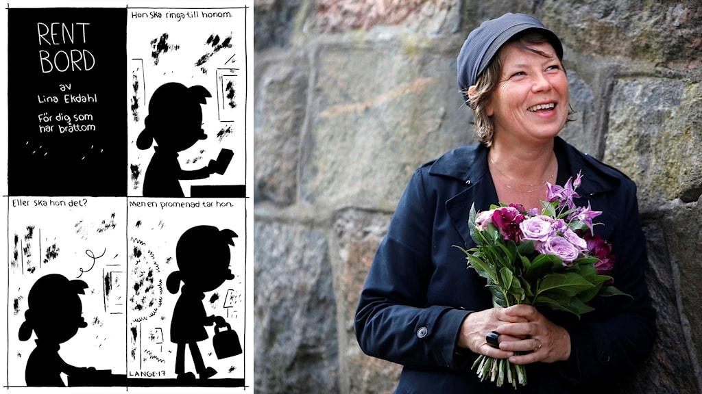 """Lina Ekdahl och hennes novell """"Rent bord"""" vinner Sveriges Radios Novellpris 2017."""