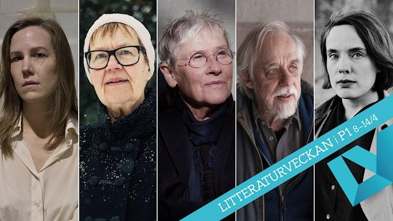 Linnea Axelssons, Tua Forsströms, Ingela Strandbergs, Thomas Tidholms och Matilda Södergrans verk har chans att vinna Lyrikpriset.