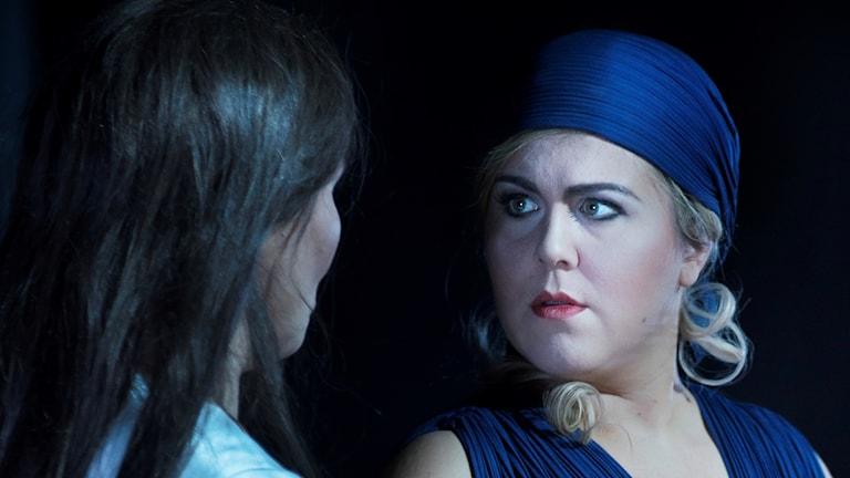 Verdis Aida 2018. Katarina Dalayman som Amneris och Christina Nilsson som Aida