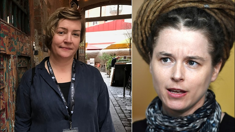 Ida Qvarnström ordförande för Filmregionerna och kulturminister Amanda Lind (mp)