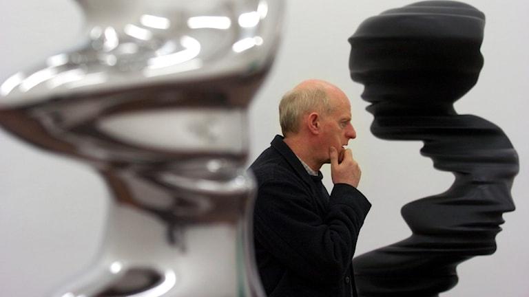 Tony Cragg, här vid en utställning i Stockholm. Foto: Lars Pehrsson/Svd