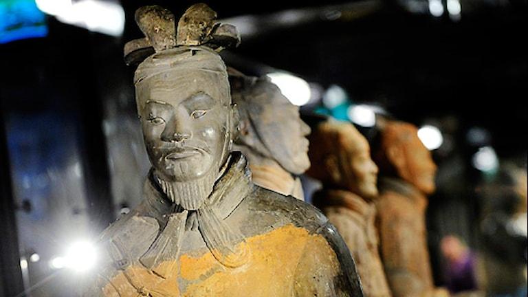 Kinas terrakottaarmé på Östasiatiska museet drog publikrekord. Foto: Jonas Ekströmer/Scanpix.