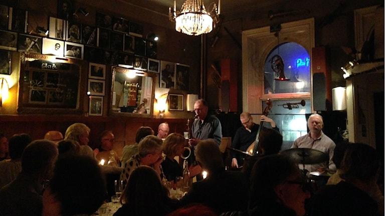 Saxofonisten Bernt Rosengren kvartett på Glenn Miller Café.