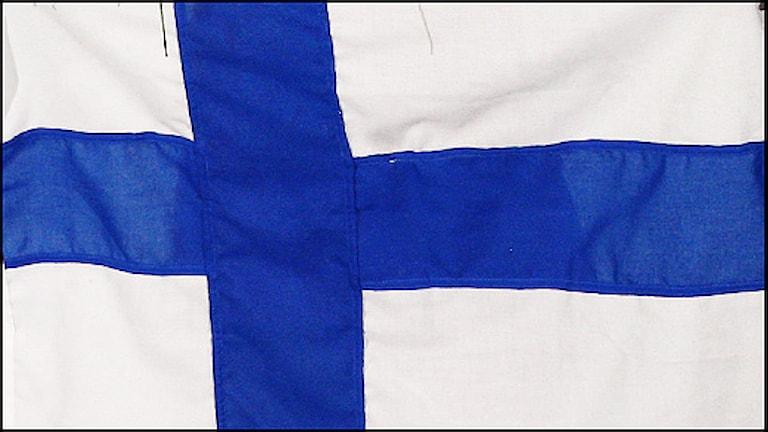 Finlands flagga. Foto: Scanpix.