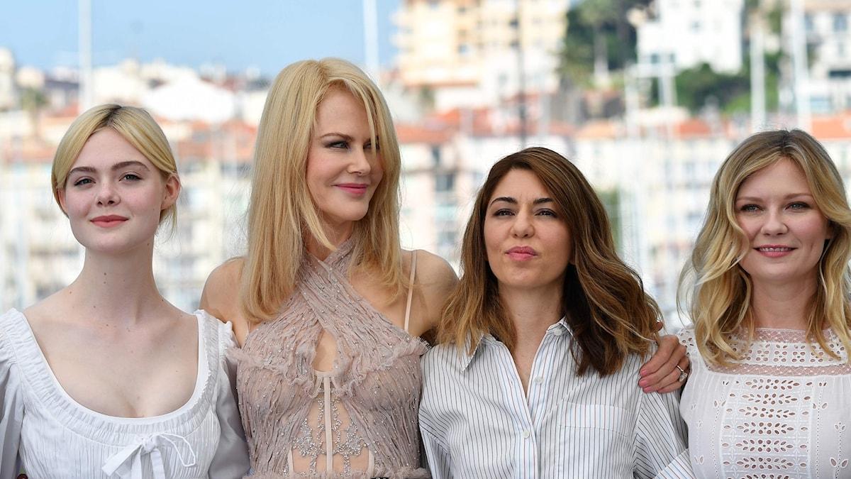 Elle Fanning, Nicole Kidman, regissören Sofia Coppola och Kirsten Dunst.