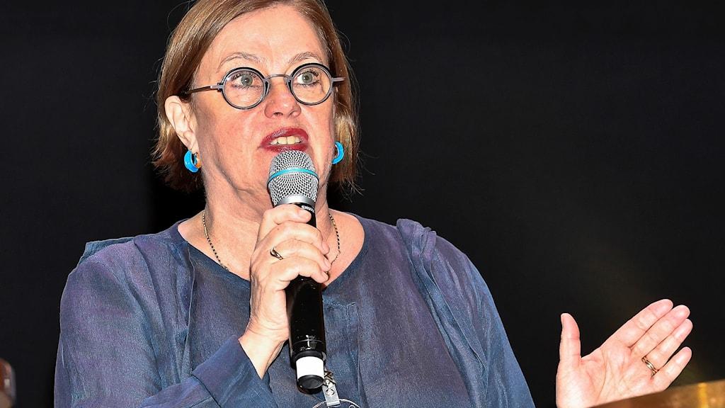 Anna Carlson, ordförande i Teaterförbundet.