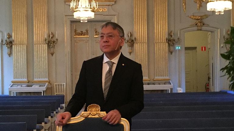 2017 års litteraturpristagare Kazuo Ishiguro i Börshuset.