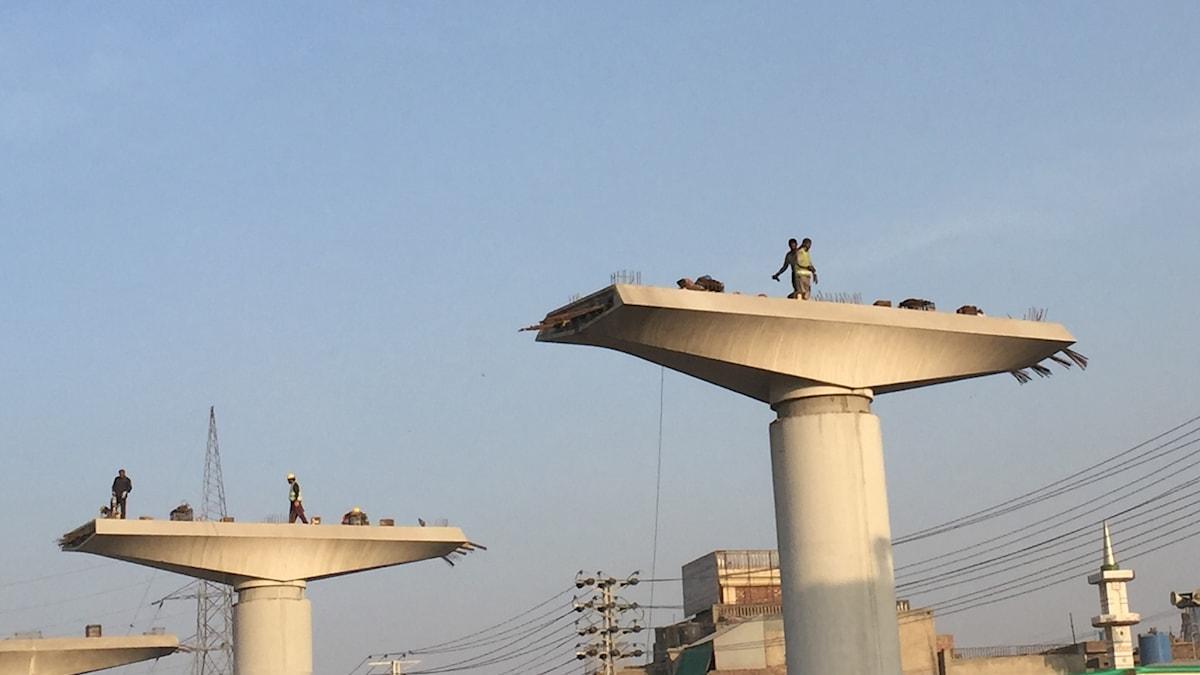 Arbete i Lahore.