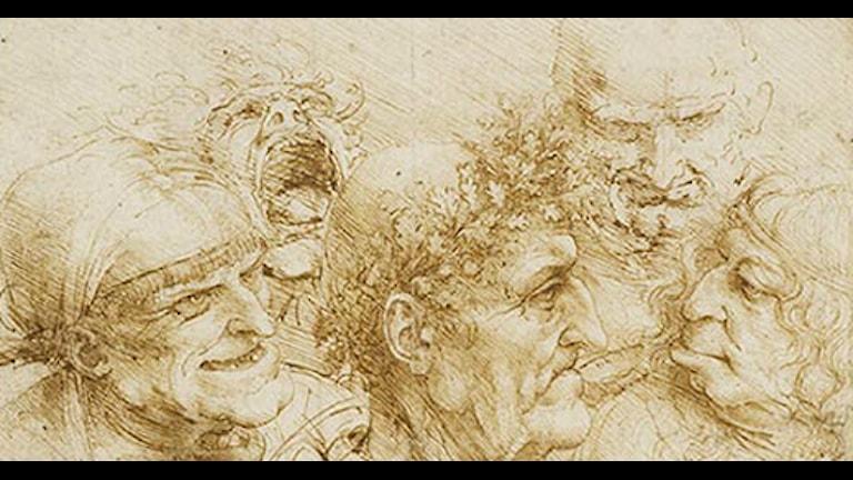 Teckning av Leonardo da Vinci från 1493.