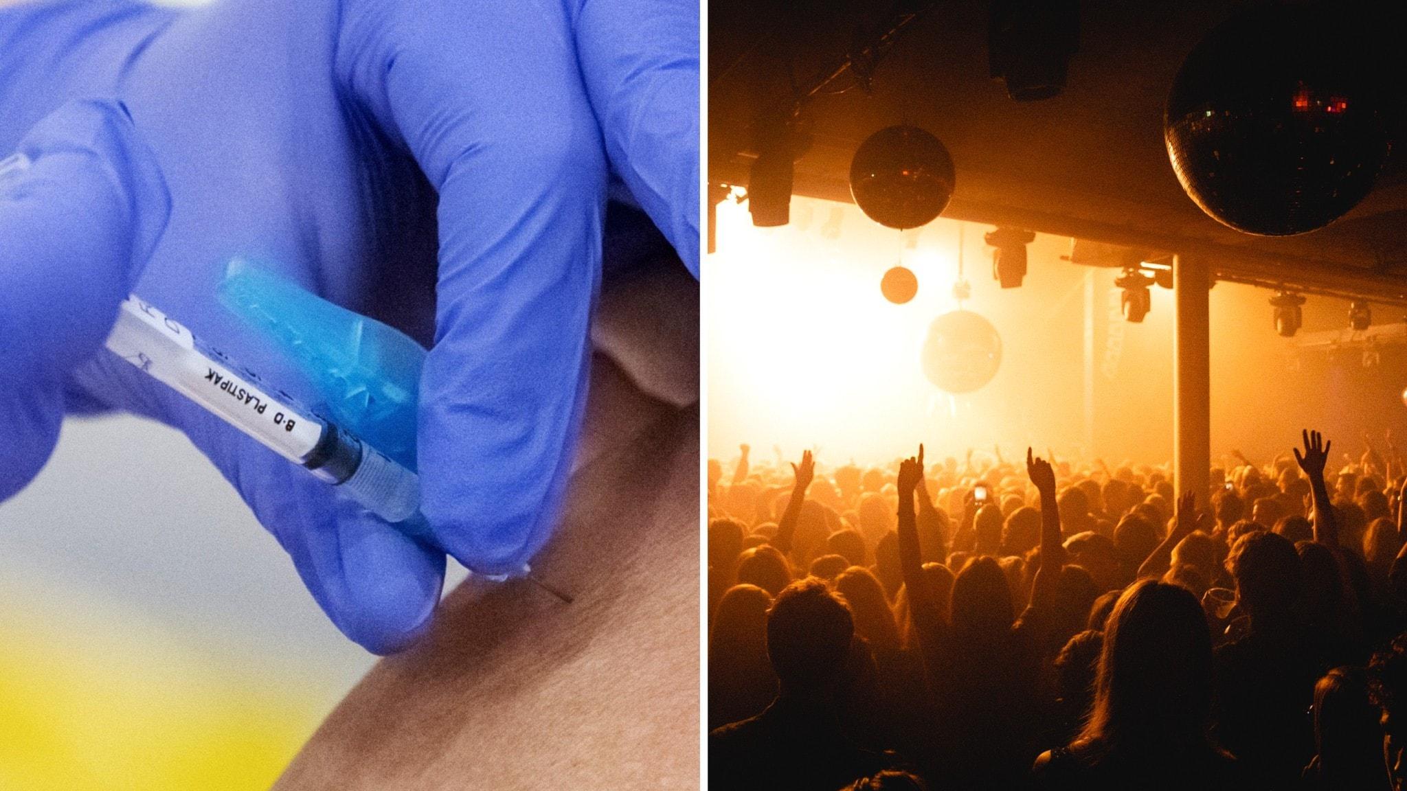 Vaccinationerna kan komma att ske på museer och nattklubbar.