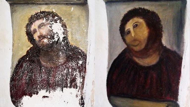 Ecce Homo, före och efter.