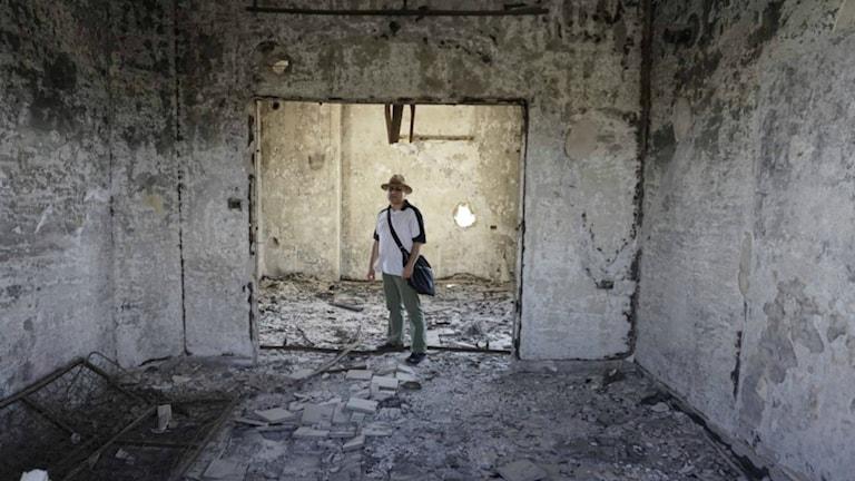 """Självporträtt, Issa Touma ur uställningen """"Älskade Aleppo"""". Foto: Issa Touma"""