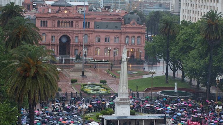 Val till delar av kongressen i Argentina.