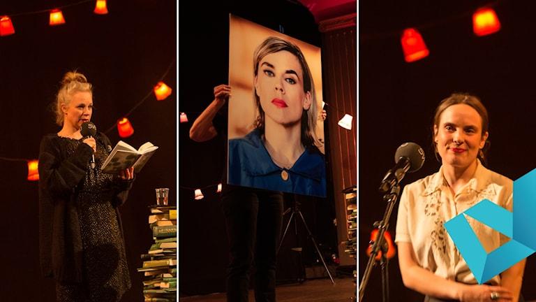 2019 års vinnare av Sveriges Radios litteraturpriser: Sara Stridsberg (Romanpriset), Matilda Södergran (Lyrikpriset) och Annika Norlin (Novellpriset).