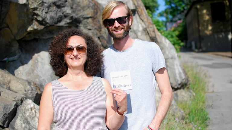 Livia Ramirez med projektkollegan Tomas Brink