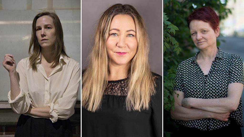 Linnea Axelsson, Hanna Jedvik och Malin Lindroth.