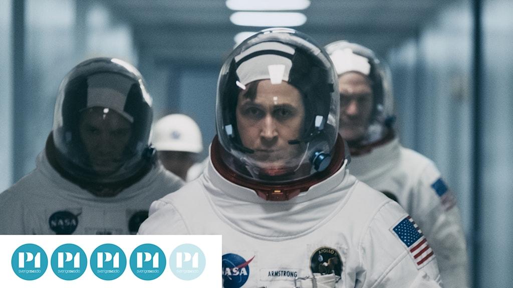 "Ryan Gosling som Neil Armstrong i ""First man""."