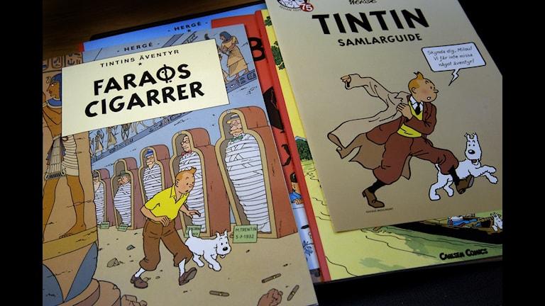Tintin får stanna på Kulturhusets bibliotek i Stockholm. Foto: Jurek Holzer / Svd / SCANPIX